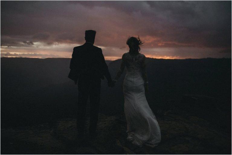 Mountaintop elopement photography